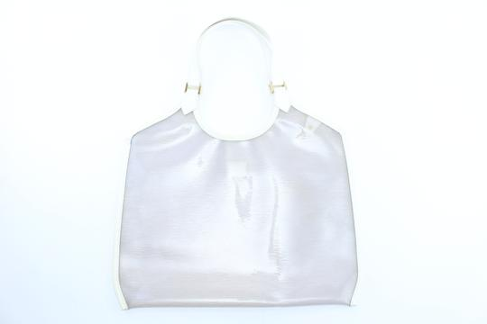 Louis Vuitton Plage Clear Lv Translucent See Through Tote in White Image 8