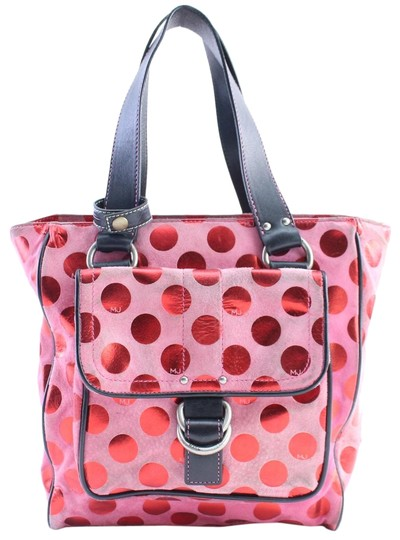 Preload https://img-static.tradesy.com/item/22921050/marc-jacobs-polka-dot-1mr0215-pink-canvas-tote-0-1-540-540.jpg