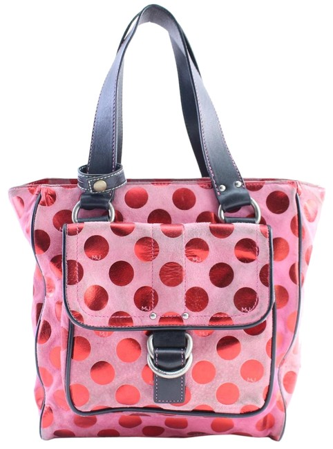 Marc Jacobs Polka Dot 1mr0215 Pink Canvas Tote Marc Jacobs Polka Dot 1mr0215 Pink Canvas Tote Image 1