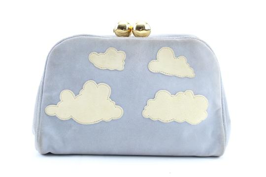 Moschino Pouch Clutch Pochette Satchel in Blue Image 0