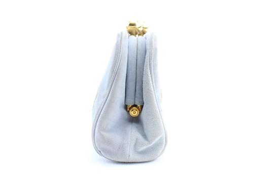 Moschino Pouch Clutch Pochette Satchel in Blue Image 7