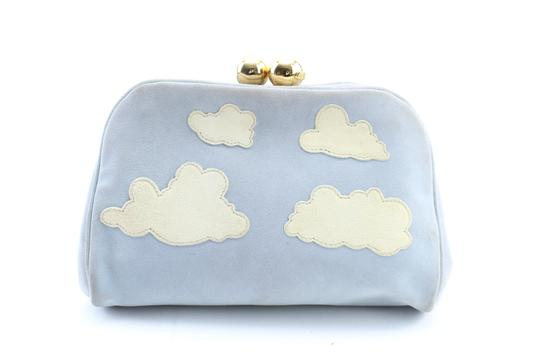Moschino Pouch Clutch Pochette Satchel in Blue Image 9