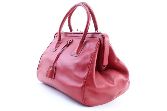 Prada Bowling Doctors Kisslock Frame Speedy Satchel in Red Image 1