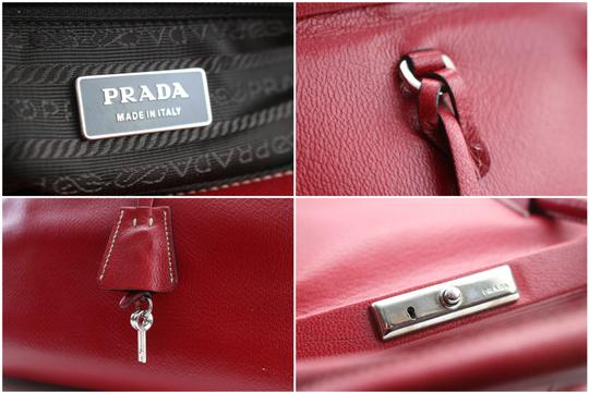 Prada Bowling Doctors Kisslock Frame Speedy Satchel in Red Image 2