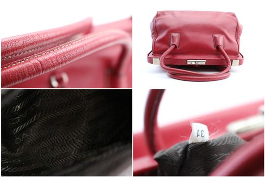Prada Bowling Doctors Kisslock Frame Speedy Satchel in Red Image 4