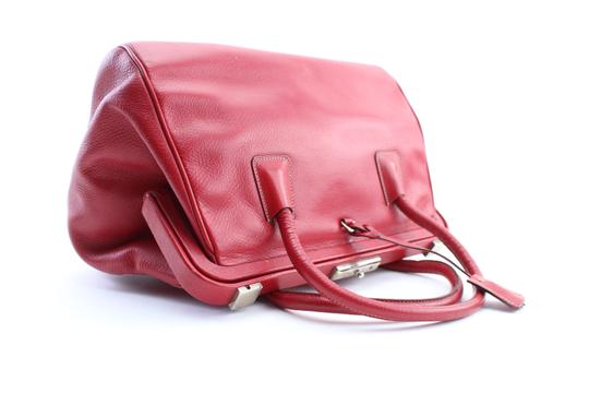 Prada Bowling Doctors Kisslock Frame Speedy Satchel in Red Image 5