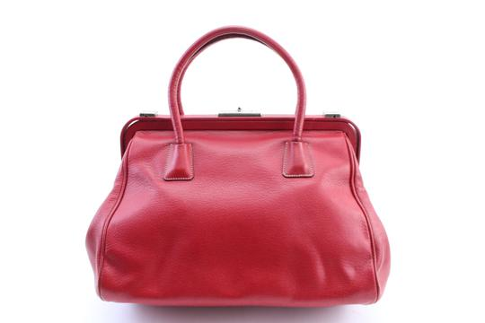 Prada Bowling Doctors Kisslock Frame Speedy Satchel in Red Image 7