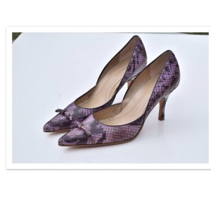 Ann Taylor lavender /gray Pumps