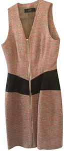 Yigal Azrouël Tweed Leather Date Dress