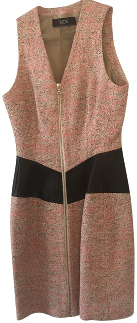 Preload https://img-static.tradesy.com/item/22921632/yigal-azrouel-pink-tweed-leather-trims-night-out-dress-size-0-xs-0-1-650-650.jpg
