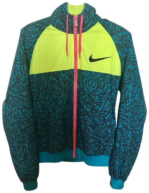 Item - Blue and Green Jacket Activewear Size 8 (M)