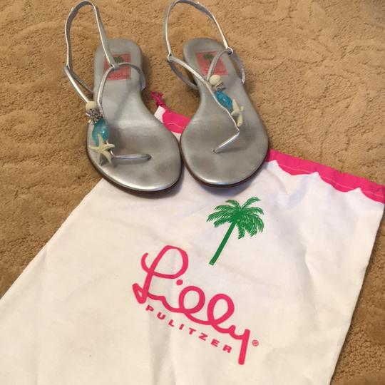 Lilly Pulitzer Silver Sandals Image 1