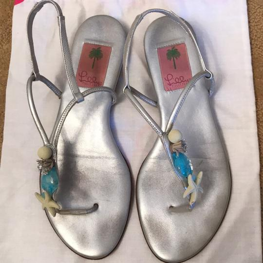 Lilly Pulitzer Silver Sandals Image 2