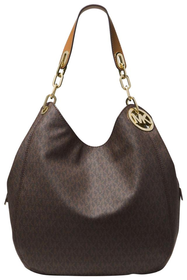 3630cf42615963 Michael Kors Signature Monogram Fulton Next Day Shipping Vanilla Shoulder  Bag Image 0 ...