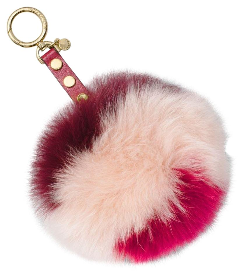 Michael Kors Mulberry Soft Pink Cr Lollipop Fur Pom Pom Large Charm Keychain