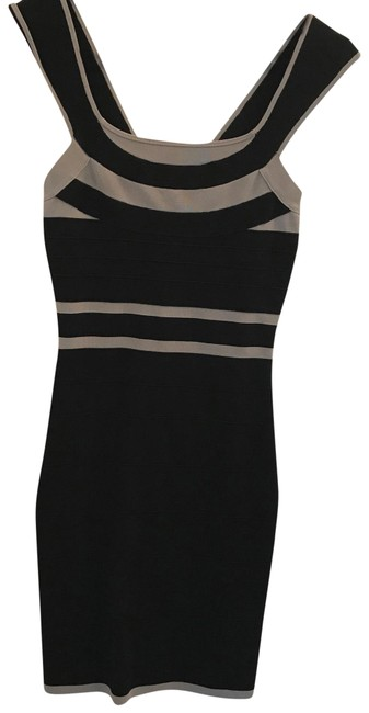 Preload https://img-static.tradesy.com/item/22921831/express-black-gray-bodycon-short-cocktail-dress-size-0-xs-0-1-650-650.jpg