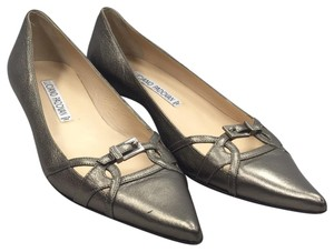 Luciano Padovan pewter Flats