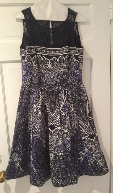 Gabby Skye short dress Navy Lace Bodice And White Flare Skirt on Tradesy Image 1
