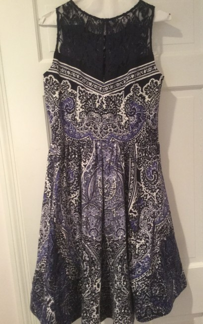 Gabby Skye short dress Navy Lace Bodice And White Flare Skirt on Tradesy Image 2