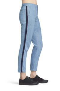 Rag & Bone Cropped Straight Chino Denim Relaxed Fit Jeans-Medium Wash