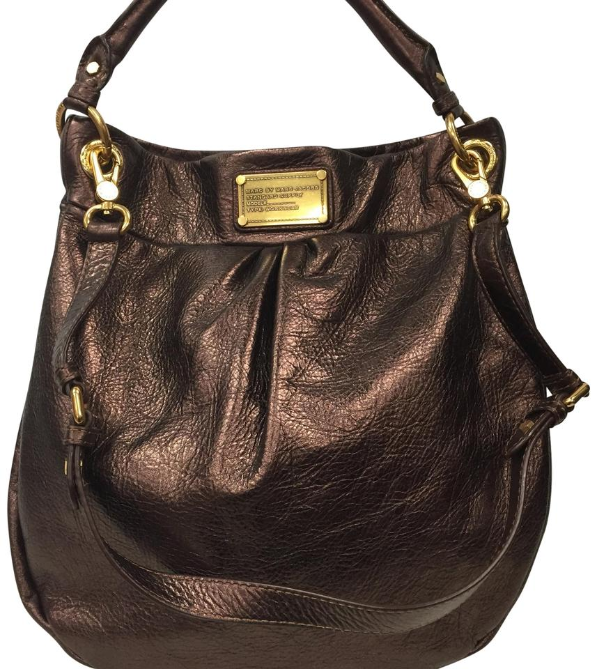 392acb79e0f5 Marc by Marc Jacobs Classic Q Metallic Hillier Bronze Cow Leather ...