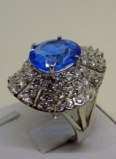 Couture Collection Vintage Blue Tanzanite Ballerina Ring Image 1
