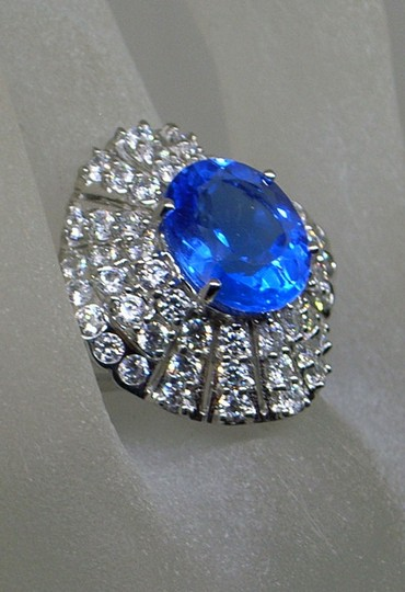 Couture Collection Vintage Blue Tanzanite Ballerina Ring Image 2
