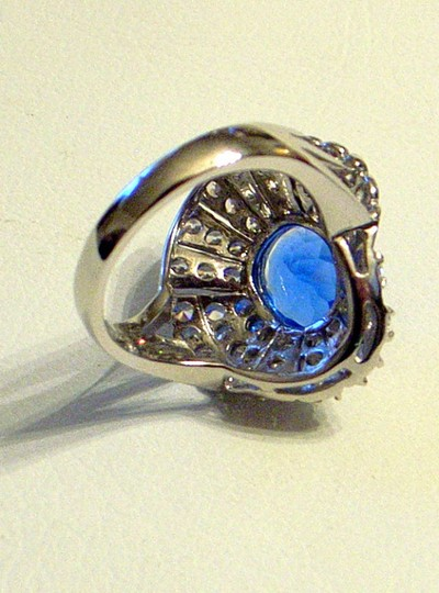 Couture Collection Vintage Blue Tanzanite Ballerina Ring Image 3