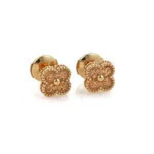 Van Cleef & Arpels Sweet Alhambra 18k Rose Gold Studs Earrings
