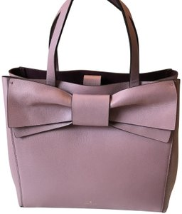 Kate Spade Brigette Leather Satchel in Dusty Peony