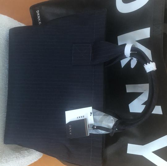 DKNY Navy Blue Tote Tote in Navy Blue Image 3