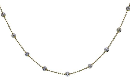 Preload https://img-static.tradesy.com/item/22922208/avital-and-co-jewelry-18k-yellow-gold-over-silver-two-tone-sterling-16-beaded-link-chain-necklace-0-1-540-540.jpg