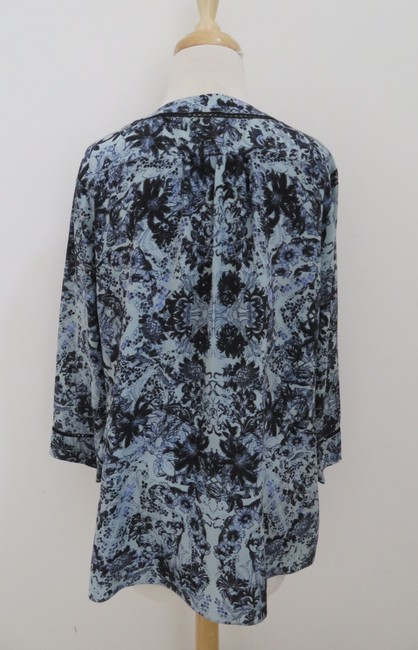 Rebecca Taylor Silk Floral 3/4 Sleeves Tunic Image 1