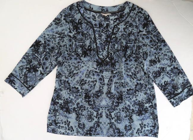 Rebecca Taylor Silk Floral 3/4 Sleeves Tunic Image 5
