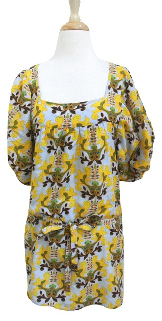 Preload https://img-static.tradesy.com/item/22922253/t-bags-los-angeles-yellow-floral-print-shift-short-casual-dress-size-4-s-0-0-650-650.jpg
