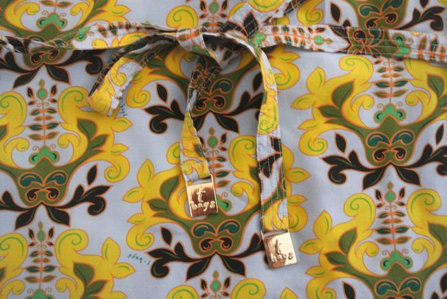 T-Bags Los Angeles short dress yellow Floral Shift Short Sleeve Silk Cotton on Tradesy Image 4