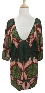 T-Bags Los Angeles Floral Print Jersey Dolman Sleeve Tunic