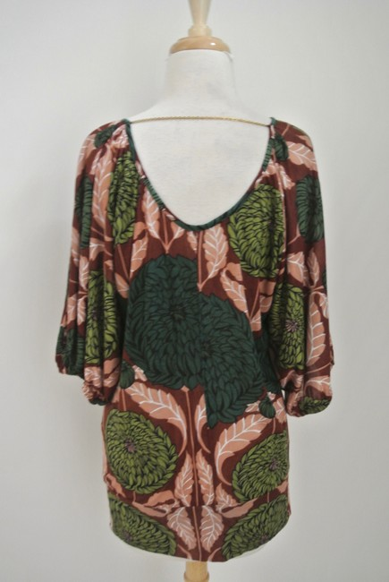 T-Bags Los Angeles Floral Print Jersey Dolman Sleeve Tunic Image 3
