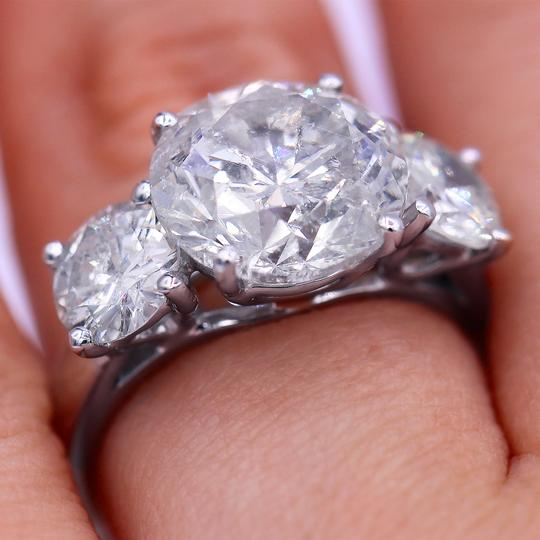 7.31cts Three Stone Million Look Engagement Ring Image 3