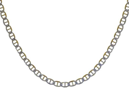 Preload https://img-static.tradesy.com/item/22922305/avital-and-co-jewelry-18k-gold-over-sterling-silver-two-tone-st-20-gucci-link-diamond-cut-chain-neck-0-1-540-540.jpg