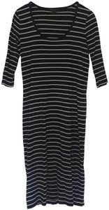 French Connection short dress Black, white Striped on Tradesy