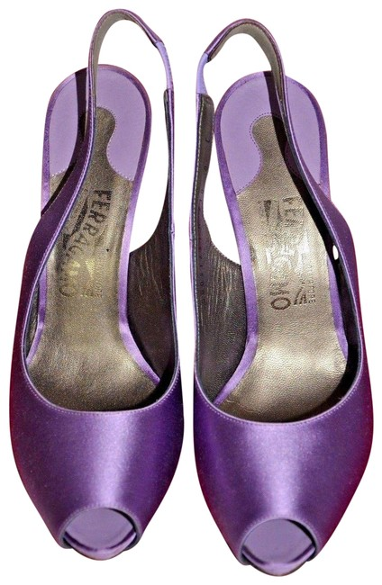 Item - Purple Lilac Satin Peeptoe Heel Pump New Formal Shoes Size US 8 Wide (C, D)