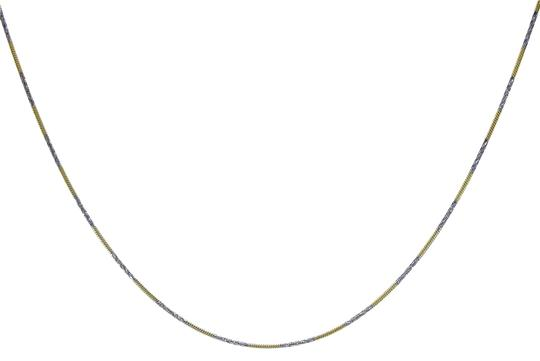 Avital & Co Jewelry 18k Two Tone Gold Over Sterling Silver 16