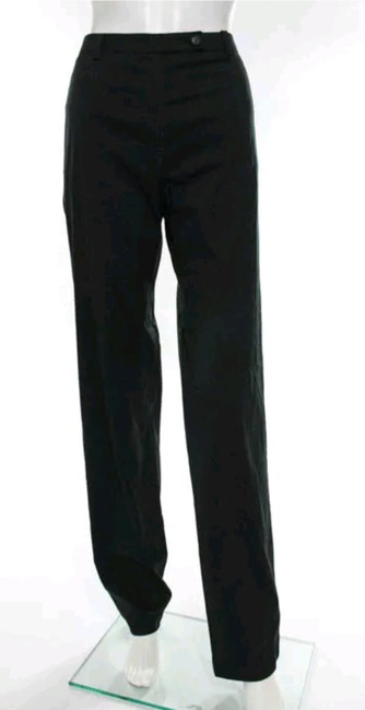 Prada High Rise Dress Straight Pants Black Image 1