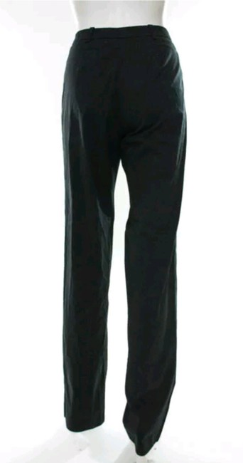 Prada High Rise Dress Straight Pants Black Image 2