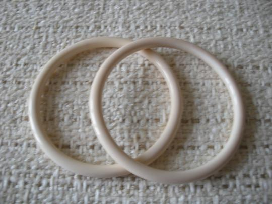 Angela Caputi Angela Caputi ivory bangle resin bracelets