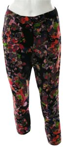 W118 by Walter Baker Casual Floral Skinny Jeans Jeans Capris Multi