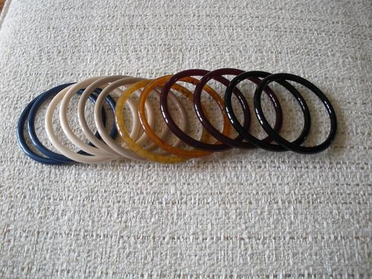 Angela Caputi Angela Caputi tan bangle resin bracelets