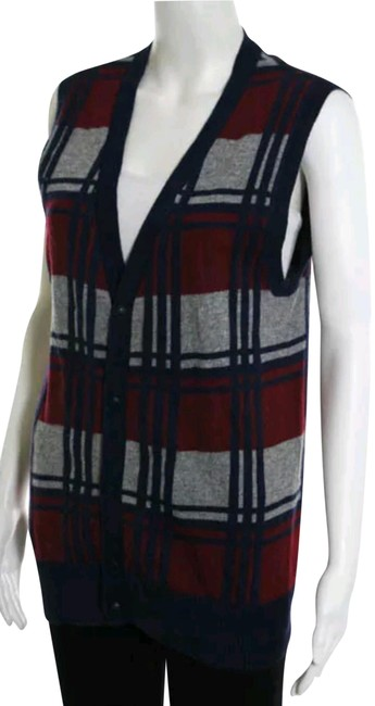 Preload https://img-static.tradesy.com/item/22922712/blue-red-gray-plaid-v-neck-sweater-vest-small-sleeve-button-down-top-size-6-s-0-1-650-650.jpg