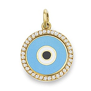 Aaron Basha Aaro Basha Diamond Evil Eye Pedant Necklace